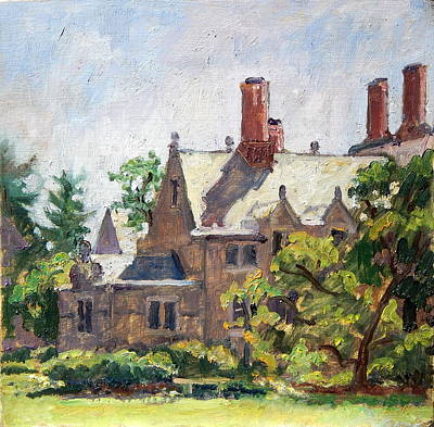 Painting - Bryn Mawr Rooftops by Thor Wickstrom