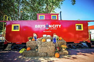 Bryson City, Nc October 23, 2016 - Great Smoky Mountains Train R Art Print by Alex Grichenko