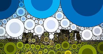 Bubble Art Stonehenge Art Print