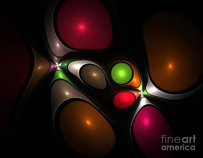 Woman.abstract Painting - Bubbleshock by Steve K