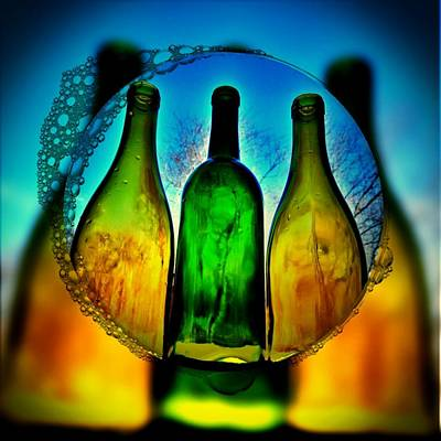 Digital Art - Bubbly by Vijay Sharon Govender