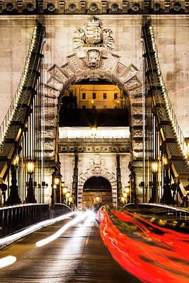 Photograph - Budapest Chain Bridge by David Pyatt