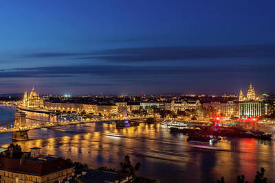 Photograph - Budapest City By Night In Hungary by Artur Bogacki