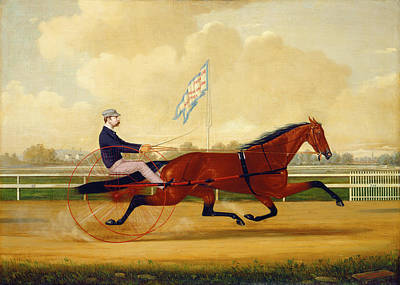 Humphrey Painting - Budd Doble Driving Goldsmith Maid At Belmont Driving Park by Charles Spencer Humphreys