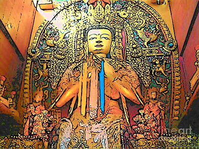 Photograph - Buddha At Boudhanath by Lisa Dunn