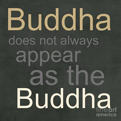 Mixed Media Rights Managed Images - Buddha Royalty-Free Image by Linda Woods