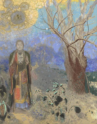 Painting - Buddha by Odilon Redon