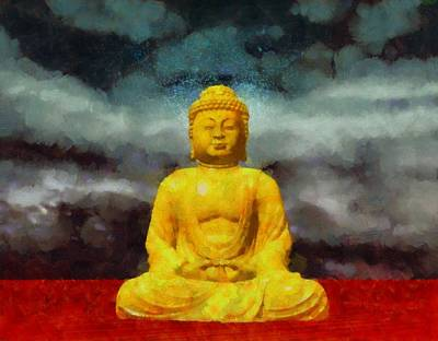 Fantasy Royalty-Free and Rights-Managed Images - Buddha by Esoterica Art Agency