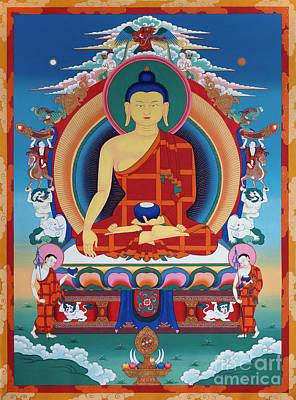 Painting - Buddha Shakyamuni by Sergey Noskov
