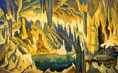Magical Painting - Buddha The Winner by Nicholas Roerich