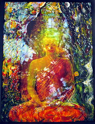 Pause Mixed Media - Buddha by Zeitlin Giffen