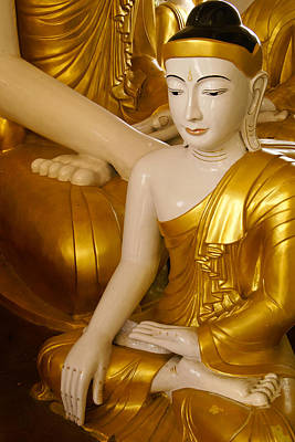Photograph - Buddhas In Burma by Michele Burgess