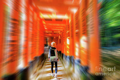 Photograph - Buddhist Temple Blurred Background by Benny Marty