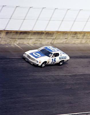 Buddy Baker # 15 Bud Moore / Norris Ford Torino At Daytona Art Print by David Bryant