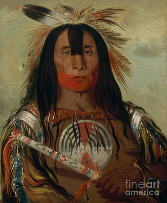 Chief Painting - Buffalo Bull's Back Fat by Celestial Images