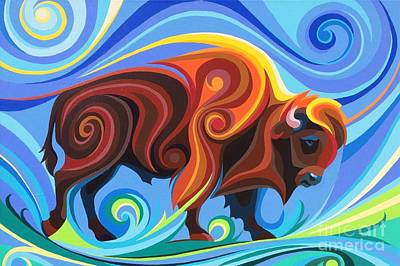 Painting - Buffalo by Christine Karron
