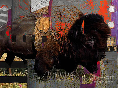 Mixed Media - Buffalo Collection by Marvin Blaine