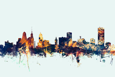 Cities Digital Art - Buffalo New York Skyline by Michael Tompsett