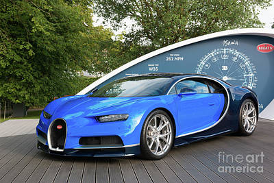 Photograph - Bugatti Chiron  by Roger Lighterness