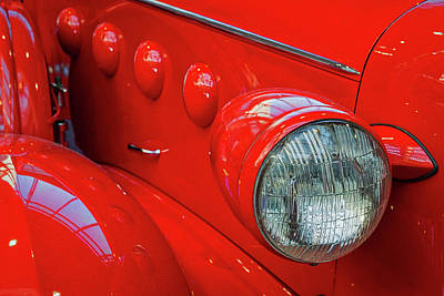 Photograph - Buick Lasalle Headlight by Stuart Litoff