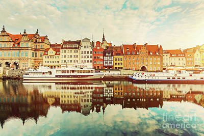 Photograph - Building Facades Of Old Town In Gdansk And Motlawa River by Michal Bednarek