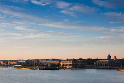 Maryland Photograph - Buildings At Waterfront, Us Naval by Panoramic Images