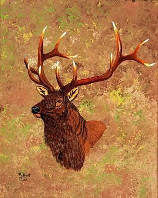 Painting - Bull Elk by Ralph Root