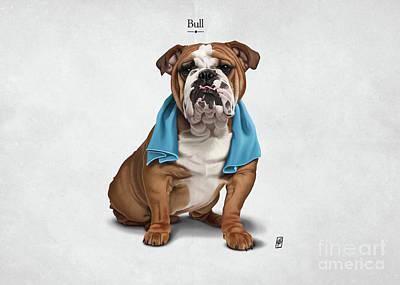 Digital Art - Bull by Rob Snow
