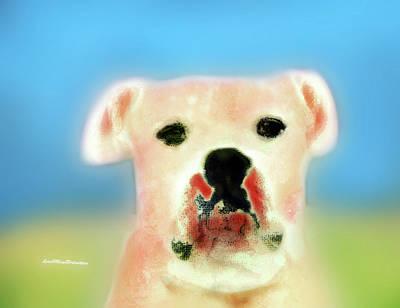 Buy Dog Art Digital Art - Bulldog Rana Art 54 by Miss Pet Sitter
