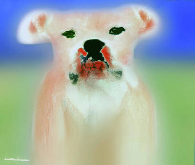 Digital Art - Bulldog Rana Art 55 by Miss Pet Sitter