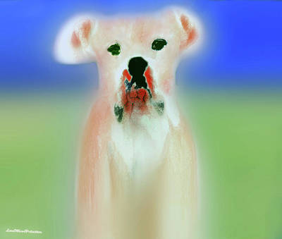 Digital Art - Bulldog Rana Art 56 by Miss Pet Sitter