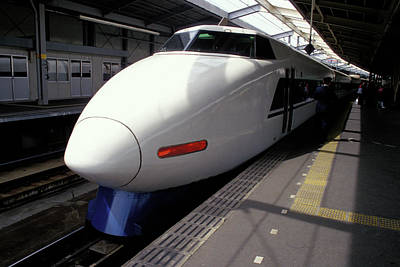 Photograph - Bullet Train In Japan by Carl Purcell