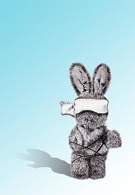 Drawing - Bunny Bondage by Christina Knapp
