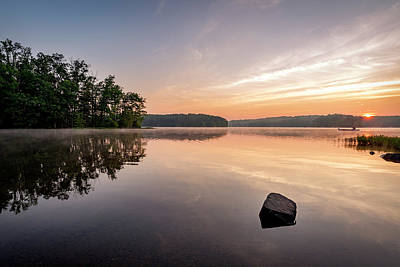 Photograph - Burke Lake Reflection by Michael Donahue