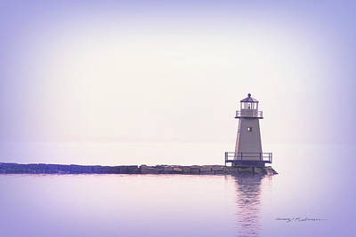 Photograph - Burlington Lighthouse  by George Robinson