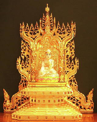 Sculpture - Burmese Buddha Throne by Martin Walker-Watson Gilding Arts Studio