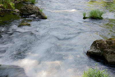 Photograph - Burney Creek 2 by Richard J Cassato