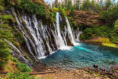 Photograph - Burney Falls by PhotoWorks By Don Hoekwater