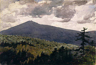 Winslow Homer Drawing - Burnt Mountain by Winslow Homer