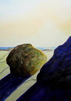 Burren Painting - Between A Rock And A Hard Place by Martine Murphy