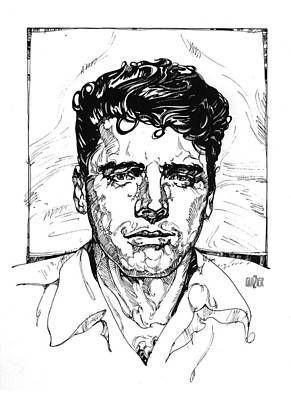 Digital Art Rights Managed Images - Burt Lancaster Inking Royalty-Free Image by Garth Glazier