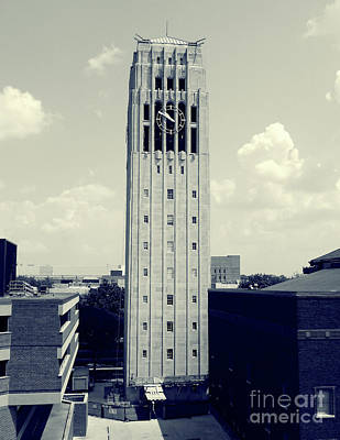 University Of Michigan Digital Art - Burton Clock Tower by Phil Perkins