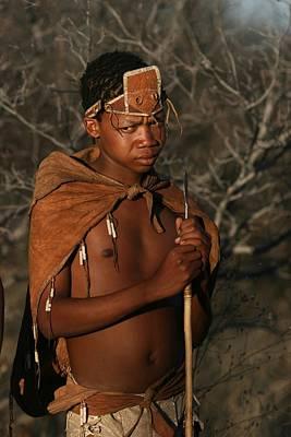 Bushman Photograph - Bushmen Hunter by Miranda  Miranda
