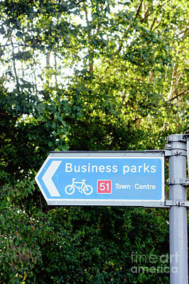 Photograph - Business Parks Sign by Tom Gowanlock