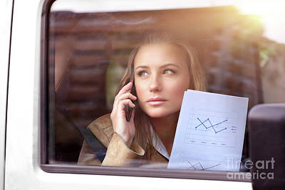 Photograph - Business Woman In The Car by Anna Om