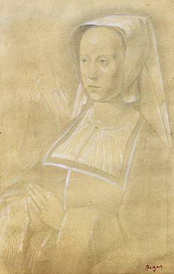Drawing - Bust Of A Woman by Edgar Degas