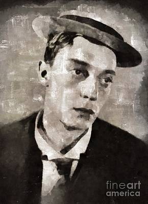 Buster Keaton, Actor Art Print by Mary Bassett