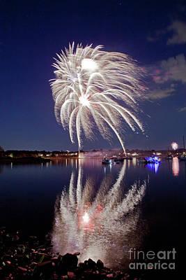 Photograph - Bristol Fireworks #1 by Butch Lombardi