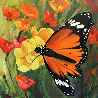 Painting - Butterfly by Alan Lakin
