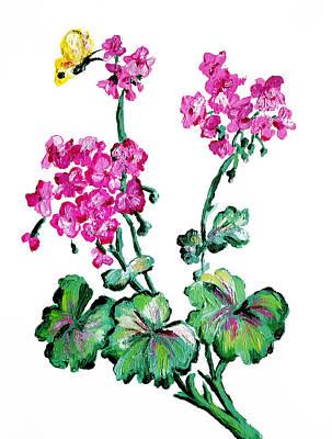Butterfly And Gardenias Original